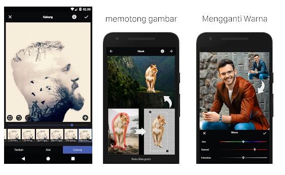 Aplikasi Nature Background Photo Editor: Frames & Overlay